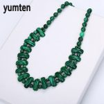 Yumten Malachite Necklace Natural Stone Crystal Women Bead Chain Fashion Classic Pendants Exquisite <b>Handmade</b> <b>Jewelry</b> Pingente