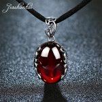 JIASHUNTAI Retro 925 <b>Silver</b> Sterling Pendant <b>Necklace</b> Female <b>Silver</b> Jewelry Red Green Stone For Women
