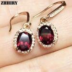 ZHHIEY Natural Pyrope Garnet <b>Earring</b> Genuine Solid 925 Sterling <b>Silver</b> Real Gemstone <b>Earrings</b> Women Fine Jewelry