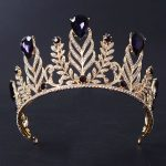 New Magnificent Violet Crystal Rhinestone Queen Tiara <b>Fashion</b> Big Diadem for Women Crown Wedding Dress Hair <b>jewelry</b> Accessories