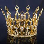 Gold Color European Royal Crown Rhinestone Tiaras <b>Wedding</b> Bridal Queen/Princess Hair <b>Jewelry</b> <b>wedding</b> hair accessories