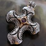 Super Gorgeous Palace Restoring Ancient Ways Is <b>Silver</b> Thai <b>Silver</b> Big Cross <b>Necklace</b> +Pendant Male Classical Atmosphere