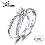 JewelryPalace 1.3ct Cubic Zirconia Anniversary <b>Wedding</b> Band Engagement Solitaire Ring Bridal Sets 925 Sterling Silver <b>Jewelry</b>