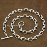 Solid 925 Sterling <b>Silver</b> Mens Biker Rocker Punk <b>Necklace</b> 8W007N Length 18 to 36 Inches Available