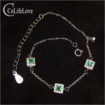 Fashion thin <b>silver</b> emerald bracelet for woman 3 pcs 2.5 mm natural emerald <b>silver</b> bracelet 925 <b>sterling</b> <b>silver</b> emerald <b>jewelry</b>