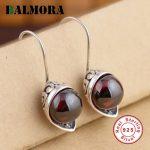 BALMORA 100% Real Pure 925 Sterling Silver Earrings for Women Lover Party Wedding Gifts Female Retro <b>Jewelry</b> Bijoux HSJ20244