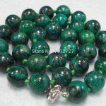 "12mm Azurite Chrysocolla Stone New Necklace Beads Fashion <b>Jewelry</b> <b>Making</b> Design Natural Stone 18"" fashion BV252 Wholesale Price"
