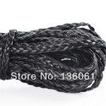 Fashion 100Yards Brown Black Leatheroid Braided Cords Necklace Bracelet <b>Jewelry</b> Craft Cord DIY <b>Handmade</b> Accessories Gifts P1387