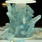 Rosary Chain Sky Blue Rock Crystal Quartz Point Bronze Chain,Necklace Bracelets Connector Copper Chain <b>Jewelry</b> <b>Making</b> ZJ-169