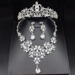 Sparkling Silver Wedding Bridal <b>Jewelry</b> Sets For Women Prom Wedding <b>Jewelry</b> <b>Accessories</b> Bridal Tiara Bride Necklace Earrings