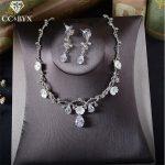CC <b>Jewelry</b> necklace pendants stud earring bridal <b>jewelry</b> sets wedding party <b>accessories</b> for women romantic bride crystal TL196
