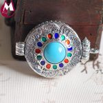 100% 925 <b>Sterling</b> <b>Silver</b> Necklace Pendants For Women Lapis Turquoise Photo Locket Charms <b>Jewelry</b> Picture Frame Pendants SP64