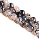 JINSE Natural Stone Black Dragon Vein Stone Round Loose Beads 6 8 10 12 14MM Pick Size For <b>Jewelry</b> <b>Making</b> YYL020