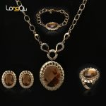 2018 bridal Wedding <b>jewelry</b> set Gold-color Party Engagement Nigerian <b>Jewelry</b> Set Costume Necklace Earrings Bracelet Ring parts