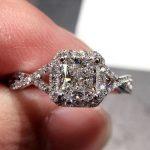 Vecalon Fashion Women ring Princess cut 1ct AAAAA Zircon Cz 925 Silver <b>Jewelry</b> Engagement <b>wedding</b> Band ring for women Gift