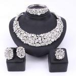Bridal Gift Nigerian <b>Wedding</b> African Beads <b>Jewelry</b> Set Fashion Dubai Clear Crystal <b>Jewelry</b> Set Costume Design Party Dinner Dress