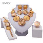 Fani 2018 nigerian bridal bead <b>Jewelry</b> set Woman customer <b>fashion</b> african beads <b>jewelry</b> set Brand Dubai Gold Colorful <b>jewelry</b>