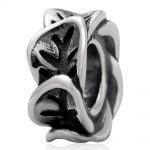 Authentic 100% 925 Sterling Silver Beads European Old <b>Antique</b> leaf Spacer Beads Fit pandora Bracelet&bangle <b>jewelry</b>