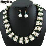 MayJim Statement necklace 2018 fashion <b>jewelry</b> sets <b>Handmade</b> big beads chain crystal Pearl <b>jewelry</b> sets Vintage beads Bijoux