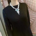 baroque natural fresh water pearl pendant <b>necklace</b> 925 sterling <b>silver</b> big pearl irregular shape fine women jewelry 16 inch