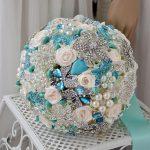 DIA 20CM Luxury Hand Made Hydrangea with Top Quality Crystal Brooch <b>Jewelry</b> Bridal wedding Bouquet Decoration wedding <b>supplies</b>