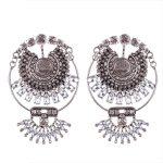 Wholesale Brand <b>Antique</b> Vintage Silver Crystal Statement Earrings American High Street Retro <b>Jewelry</b> Earring