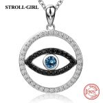 New arrival sterling silver 925 devil's eyes with cubic Zircon pendant chain necklace diy fashion <b>jewelry</b> <b>making</b> women gifts