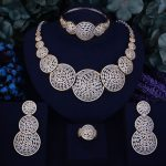 GODKI Luxury Round Shape Nigerian Engagement Naija Bridal Cubic Zirconia <b>Necklace</b> 4PCS <b>Jewelry</b> Set Sets Jewellery Addiction