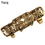 YACQ Double Full Finger Knuckle Long Armor Ring for Women <b>Antique</b> Gold Silver Plated Punk Rock Party <b>Jewelry</b> Dropshipping RM05
