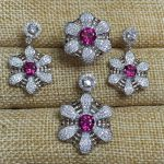 Natural pink topaz gem jewelry sets natural gemstone ring Pendant <b>Earrings</b> 925 <b>silver</b> Stylish lovely Network Fan women jewelry