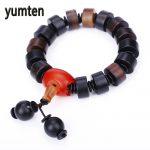 Yumten Men's <b>Fashion</b> Bracelet <b>Jewelry</b> Natural Agate Chinese Style Popular Exaggeration Dance Accessories Handmade Bracelet Femme
