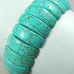 New 7-20mm Blue Turkey Stone Bracelet Beads Fashion <b>Jewelry</b> <b>Making</b> Design Female Bracelet 7.5inch Wholesale Price (Mini Order 1)