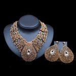 African Beads Jewelry Sets <b>Silver</b> Plated Red Rhinestones Crystal Women Wedding Necklace <b>Bracelet</b> Earring Ring Dubai Jewelry Set