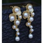 Lovely earrings's Wedding ROUND SOUTH SEA SHELL PEARL DANGLE EARRING beautiful earrings silver-<b>jewelry</b> Bead Length High-quality