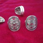 Miao <b>jewelry</b> ethnic style <b>handmade</b> Miao silver personality ring ring flower bronze drum ring
