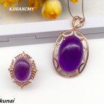 KJJEAXCMY Fine jewelry, Fashion 925 <b>silver</b> set Amethyst wedding jewelry women's Suite