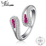 JewelryPalace Rabbit Ears Created Ruby Open Adjustable Ring 925 Sterling <b>Silver</b> Brand New Fine <b>Jewelry</b> For Women Gifts For Her