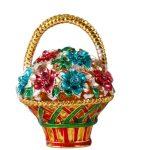 2*1.5 Inch Colorful FlowersTrinket Box With DIY Crystal Home Decor Christmas Birthday Gifts Crafts Display Wedding <b>Jewelry</b> Case