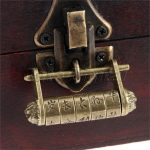 Zinc Alloy Vintage <b>Antique</b> Chinese Old Style Lock <b>Jewelry</b> Chest Box Code Password Lock Padlock for Wood Suitcase Drawer Cabinet