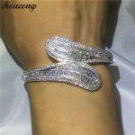 Luxury <b>jewelry</b> 5A cubic zirconia T shape stone Baguette bracelet shinning bangle White Gold Filled women <b>wedding</b> accessaries