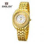 Luxury Ladies Jewelry Wrist Watches Fashion Drift Diamond <b>Bracelet</b> Quartz Female Watch Waterproof <b>Silver</b> Women Clock Brand BELBI