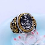 925 sterling <b>silver</b> <b>jewelry</b> hand lotus Guanyin peace Qinglong Tengyun ring <b>jewelry</b> <b>jewelry</b> free shipping