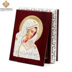 2016 new strong wood box virgin mary metal religious icons keepsake <b>jewelry</b> gifts religious articles church <b>supplies</b> trinket box