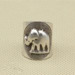 <b>Handmade</b> Solid Silver 925 Cute Elephant Cuff Rings Women Wide Band Real 925 Sterling Silver Female Ring Thai Silver <b>Jewelry</b> Gift