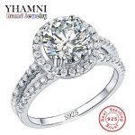 Big Sale Fashion <b>Jewelry</b> Ring Have S925 Stamp Real 925 <b>Sterling</b> <b>Silver</b> Ring Set 2 Carat CZ Diamant Wedding Rings for Women R510