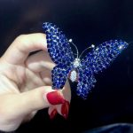 blue color 925 <b>sterling</b> <b>silver</b> with cubic zircon butterfly brooch pins fashion women <b>jewelry</b> free shipping pendant