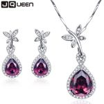 Classic Design Jewelry Sets Water Drop Natural Garnet <b>Earrings</b> Necklaces Set Engagement Party Sterling <b>Silver</b> Jewelry 925 sets