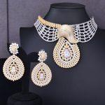 GODKI Super Luxury Floral Flower Women Wedding Cubic Zirconia Choker <b>Necklace</b> Earring Dubai <b>Jewelry</b> Set Jewellery Addict