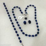 Hot sale new Style >>>> Fashion white Genuine blue Tourmaline gem gem Necklace <b>bracelet</b> Ring