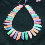 High Quality Mixed Gems Stone Necklace Point Pendant Beads, Top Drilled Women Fashion <b>Jewelry</b> Spike DIY <b>Making</b> Finding Gems
